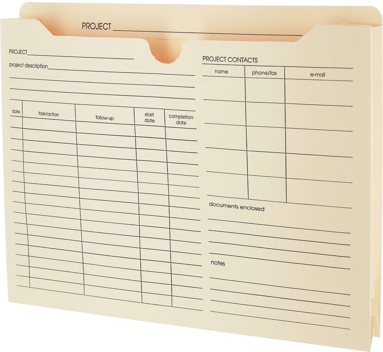 """Pendaflex File Folder Jackets, Letter Size, Manila, Preprinted, Expands 2"""" inches, Reinforced Tabs, 9.5"""" x 11.5"""" inches – Pack of 50 (27985)"""