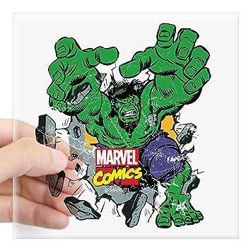 "Amazon.com: CafePress – Hulk Burst 3"" X 3 – cuadrado ..."