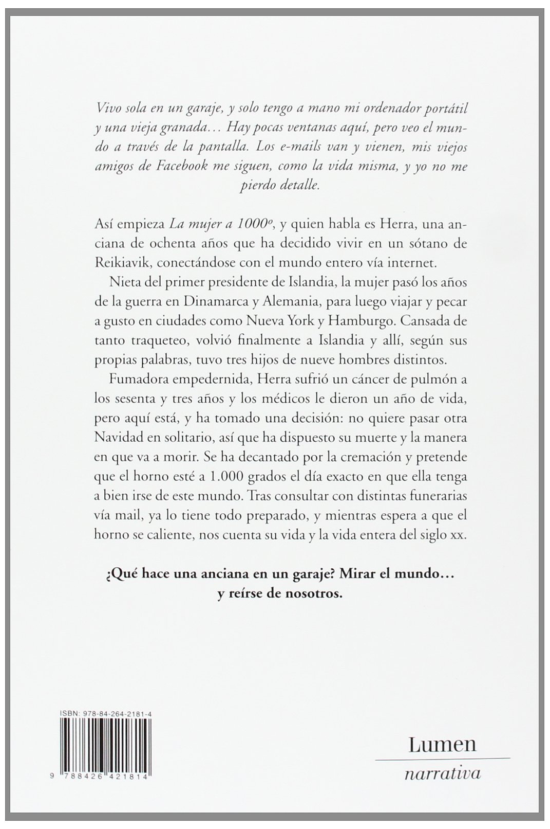 La mujer a 1000° / The Woman at 1000° (Spanish Edition): Hallgrimur Helgason: 9788426421814: Amazon.com: Books