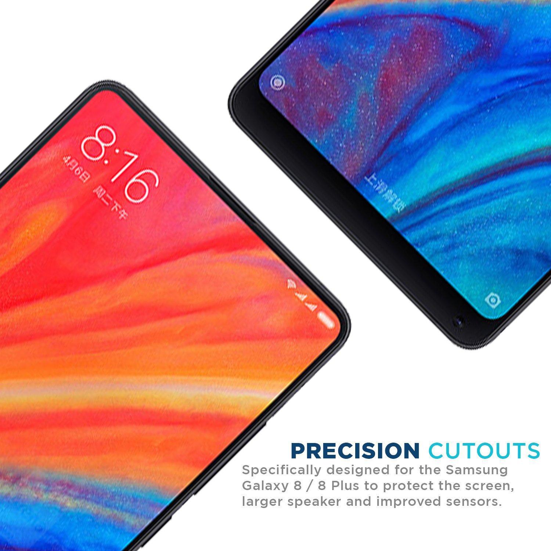 Noir 2 Pi/èces Couverture compl/ète Ferlinso Verre Tremp/é Xiaomi Mi Mix 2s//Xiaomi Mi Mix 2, Protection /écran Glass Screen Protector Vitre Tempered avec Garantie de Remplacement /à Dur/ée de Vie