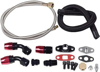 "Race Performance 36/"" Turbo Oil Feed Inlet Steel Line Kit T3//T4//T60//T61//T70//T04E"