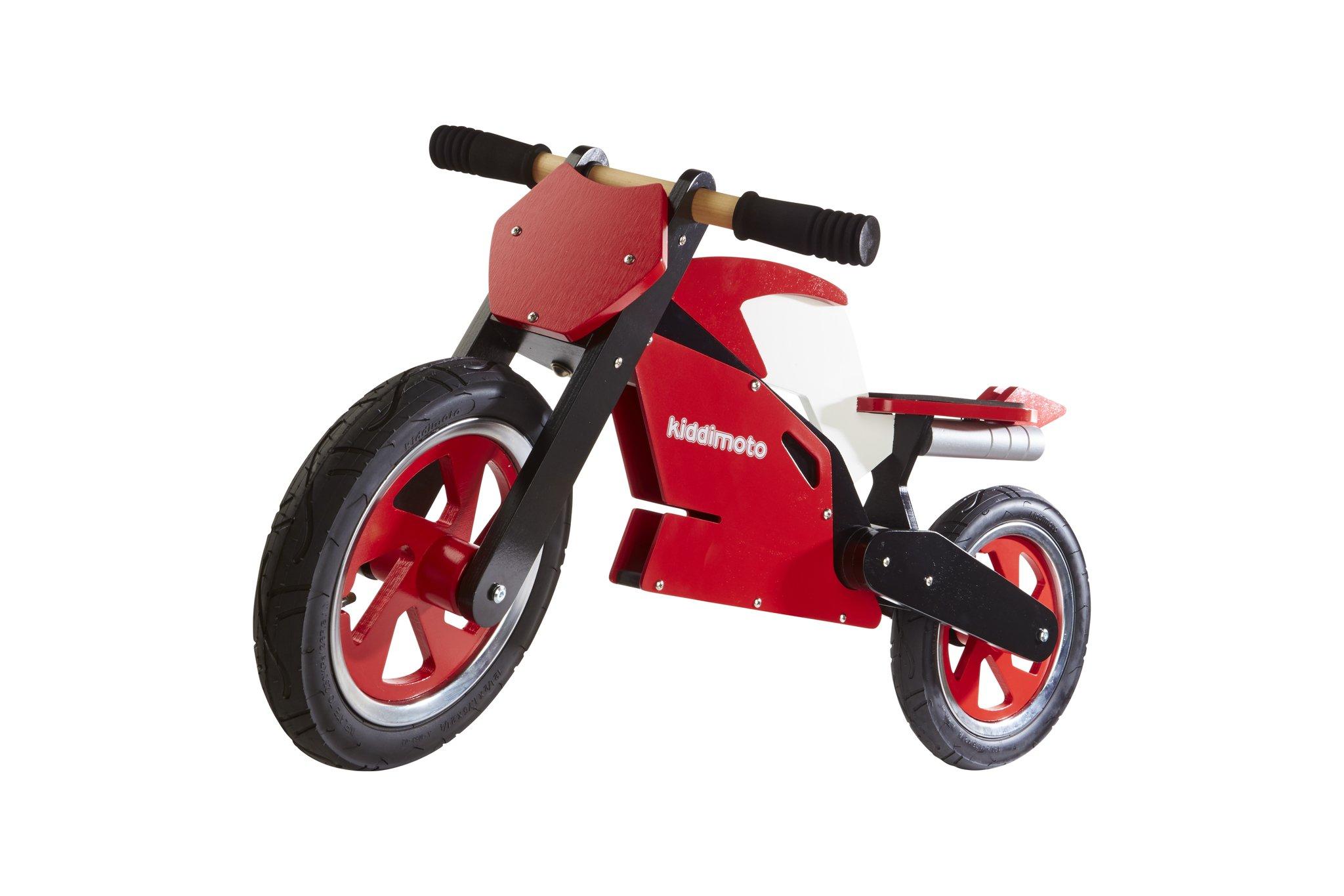 Kiddimoto Superbike Balance/Running Bike, Red/White by Kiddimoto