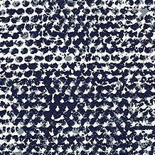 Zoey Vintage Indigo Tie-Up Valance Geometric Blue Cotton