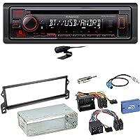 Kenwood KDC-130UR CD USB AUX Autoradio Flac Einbauset f/ür Peugeot 206 206 CC