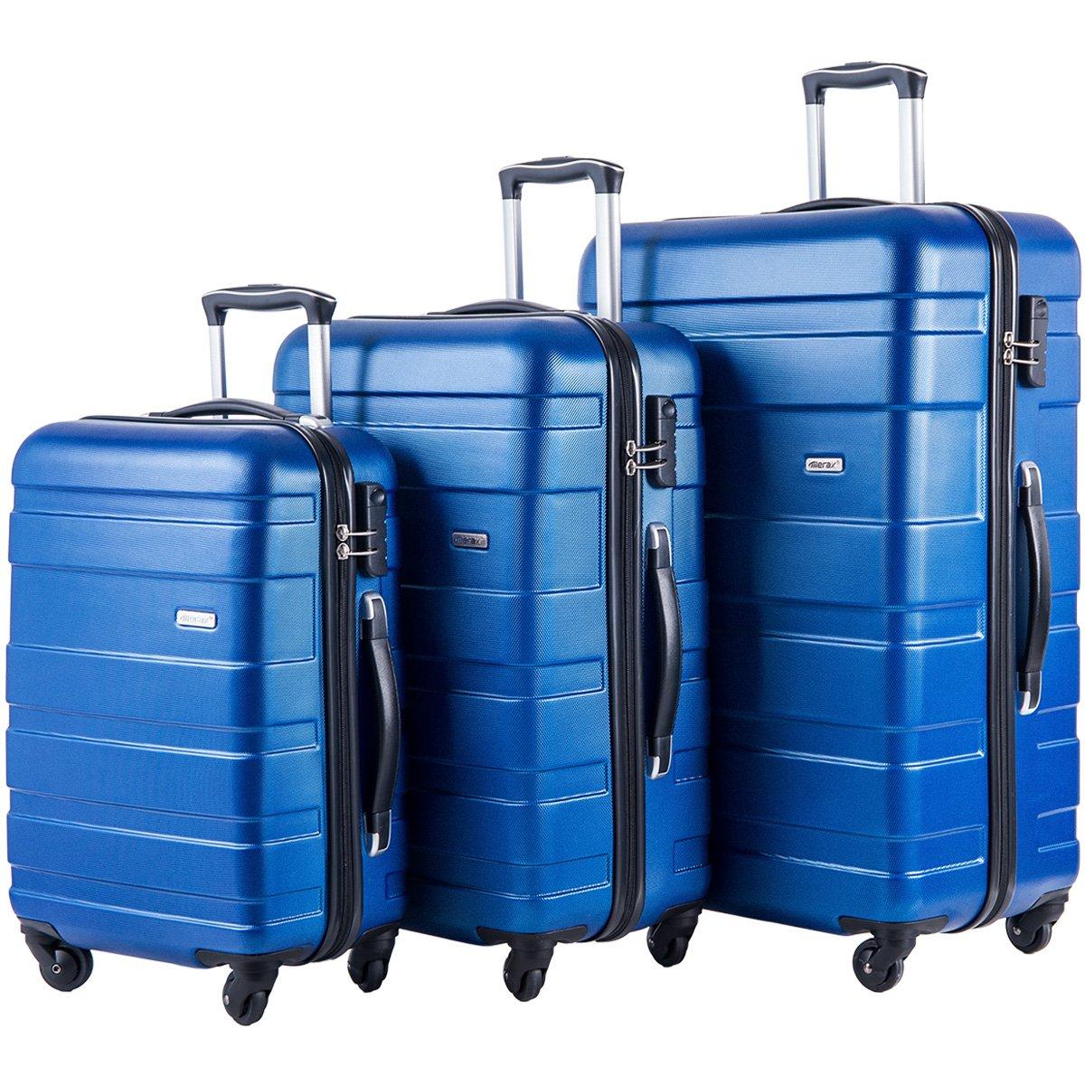 Merax MT Imagine TSA Luggage Set 3 Piece Spinner Suitcase (Blue) by Merax