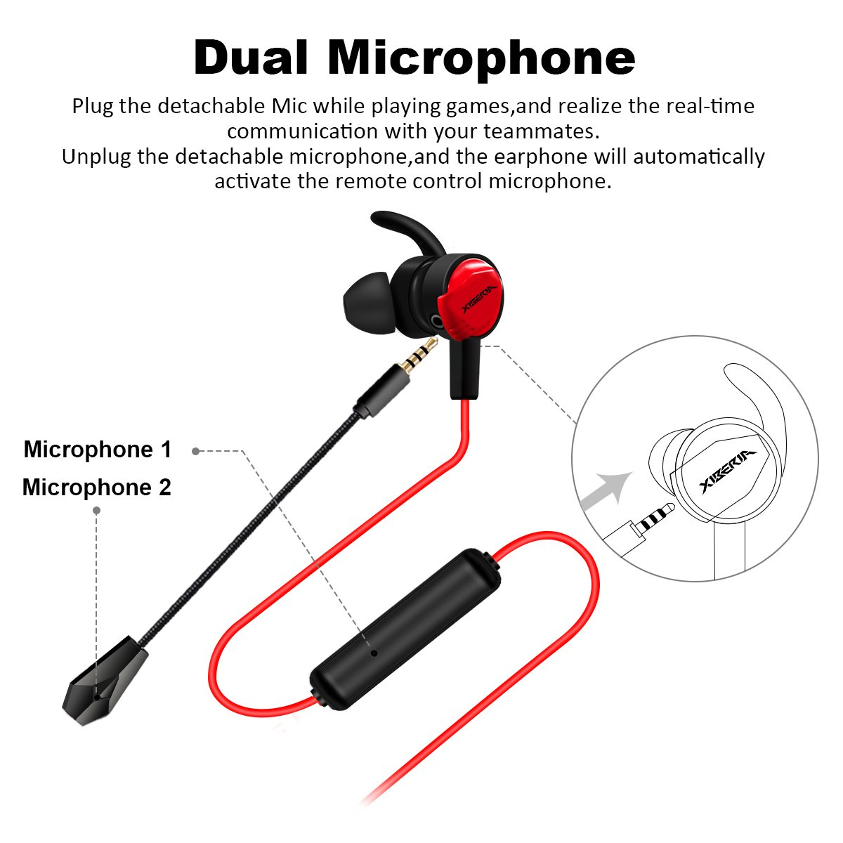 In Ear Gaming Headphones Elegiant Wired Video Noise Mic Headphone Jack Wiring Diagram Reduction Earbuds With Dual Microphone Ergonomic Comfort Fit Headsets For Pc Ps4
