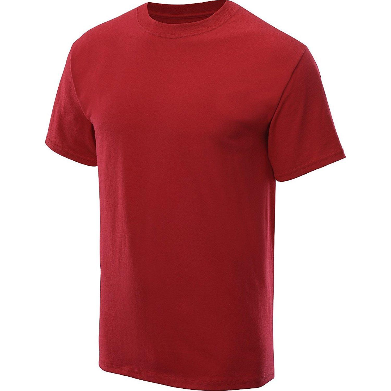 Medium, Deep Red Hanes Champion Men/'s T-shirt