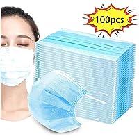 100PCS Disposable Dust Mask PM2.5 Gauze Mask Breathable Face Mouth Mask for Paint, Garden, Blue