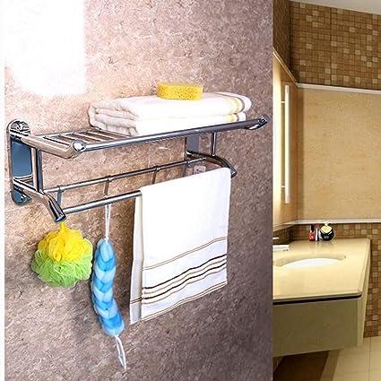 Acero Inoxidable Cuarto De Baño Lavabo Estante Para Toallas Estante Para Toallas Soporte Para Montaje En