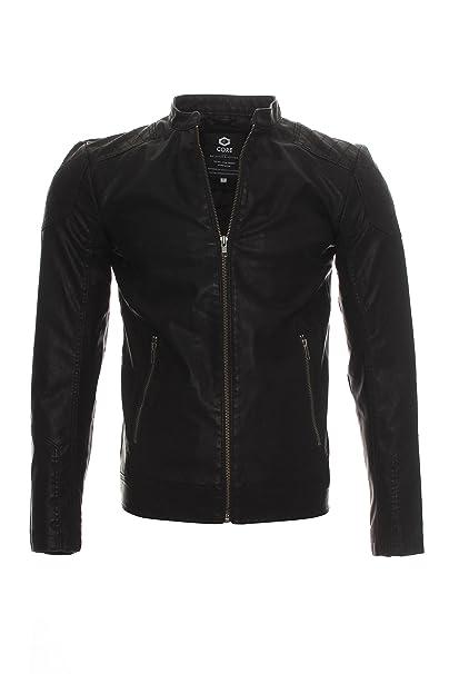 JACK & JONES - Abrigo - chaqueta guateada - Manga Larga - para hombre negro XX