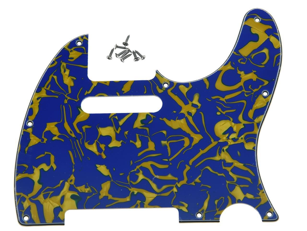 KAISH 8 Hole Tele Guitar Pickguard Scratch Plate fits USA/Mexican Fender Telecaster Dark Tortoise Kaish Music K964