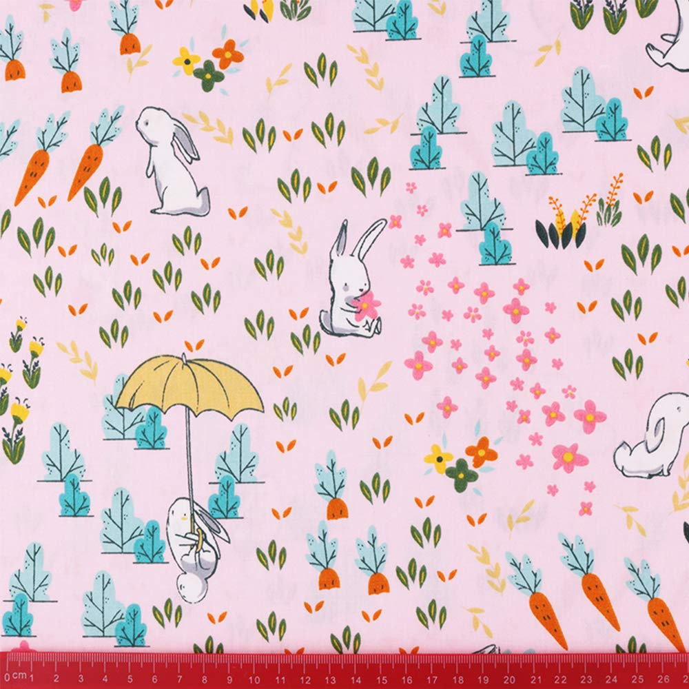8Pcs Animals Fat Quarters Fabric Bundles,Precut Quilt Quilting Fabric for Sewing Crafting,18 x 22 Mulit F
