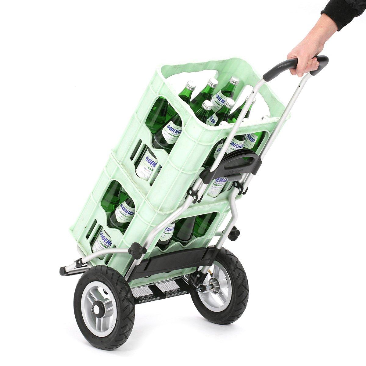 Andersen Carro de compra Royal con bolsa Senta blanca volumen 49L marco aluminio y ruedas neumatic/ás