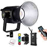 Godox VL150 LED Video Light with BD-04 Barndoor Kit, 150W 5600K Daylight-Balanced Bowens Mount,CRI 96 TLCI 95, 61000Lux@1m, B
