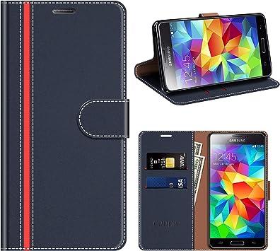 COODIO Funda Cuero Samsung Galaxy S5, Funda Samsung S5 Neo, Funda ...