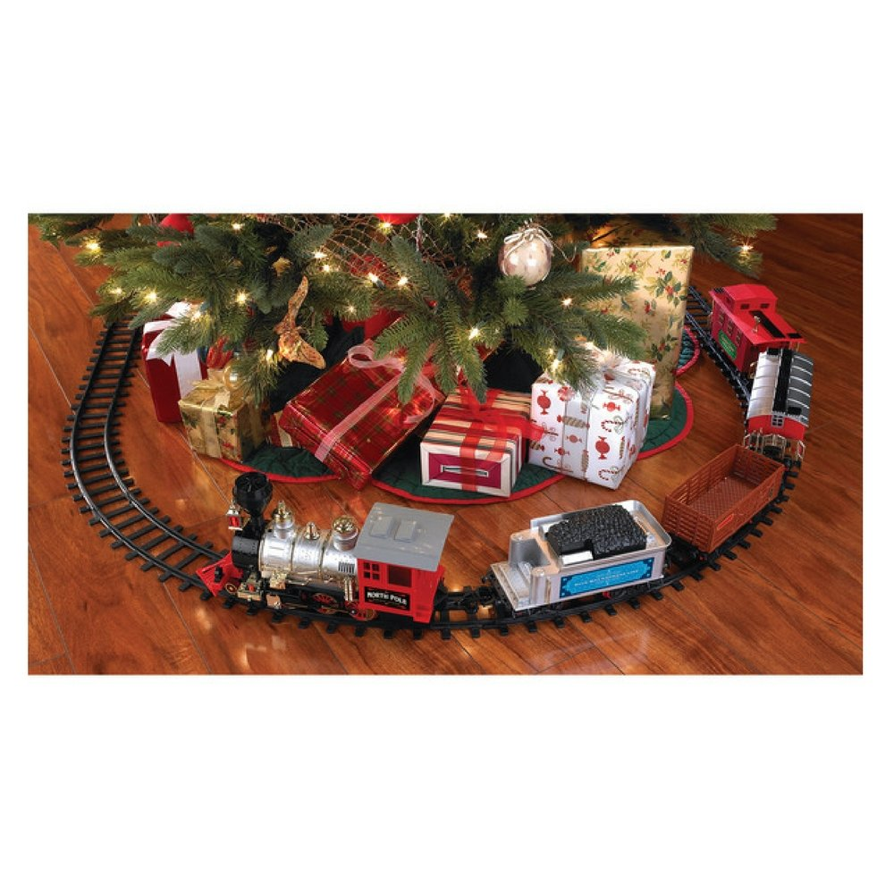 Amazon.com: Blue Hat North Pole Junction Christmas Train Set: Toys ...