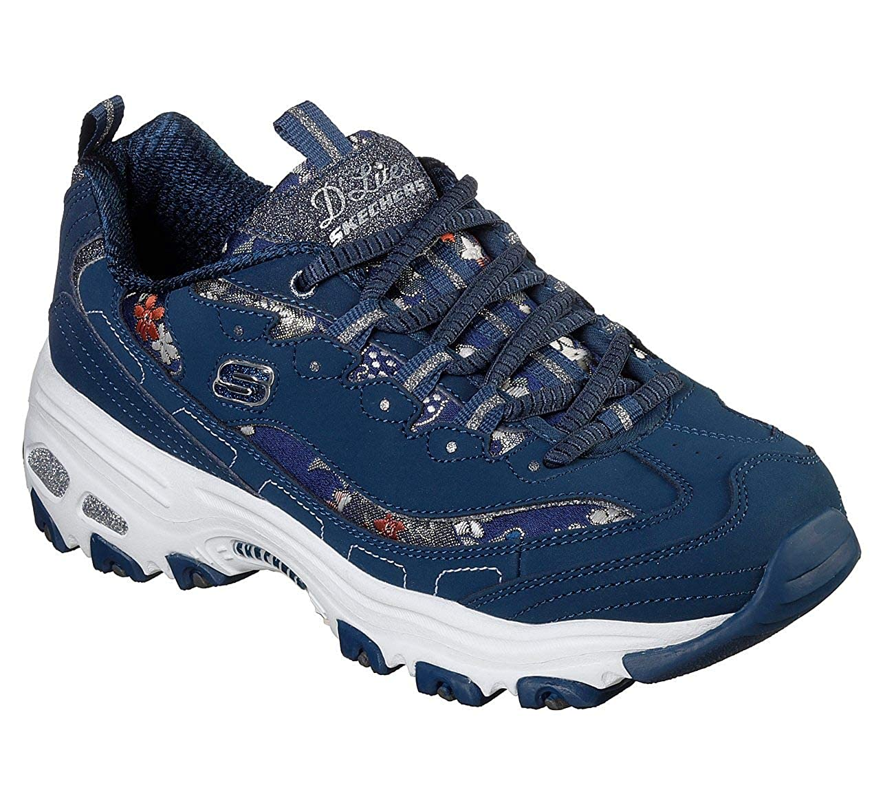 bluee (Navy Nvy) Skechers Womens D'Lites Sneaker