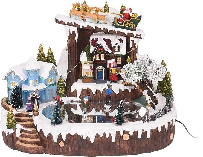 777e43a3263 Navidad escenario - con movimiento y luz - 31 x 22