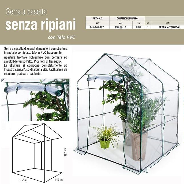 44 opinioni per Serra a casetta 140x140xh197 telo PVC giardinaggio balcone piante fiori 647-12