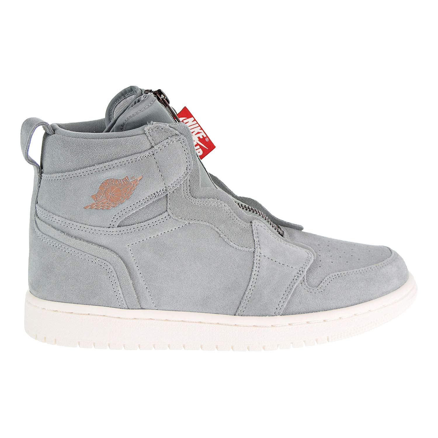 premium selection 555ce 02352 Amazon.com   Nike Women s AIR Jordan 1 HIGH Zip Shoe MICA Green MTLC RED  Bronze   Fashion Sneakers