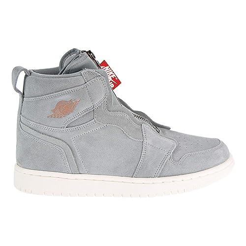 372abc969cca2 Nike Women's AIR Jordan 1 HIGH Zip Shoe MICA Green/MTLC RED Bronze