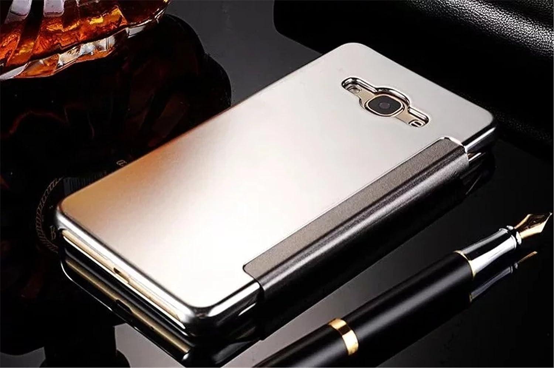 Tianyan Funda para Samsung Galaxy J7 2016 J710 Inteligente Espejo Brillante tir/ón del Caso Duro con del sue/ño//Despierte Funci/ón Ver Fecha//Hora