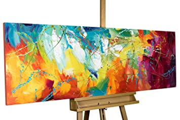 Amazon De Kunstloft Acryl Gemälde Bright Future 150x50cm
