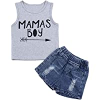 Yiner Baby Boy Clothes Shark Print Short Sleeve T-Shirt and Shorts Cotton 2PC Summer Outfit Set