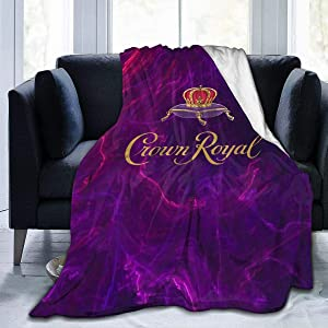 Mniunision Crown Royal Soft Warm Blanket, Flannel Fleece Blanket, Super Soft Micro-Velvet Blanket, Super Soft Hypoallergenic Plush Bed Sofa Living Room 50X40 inch