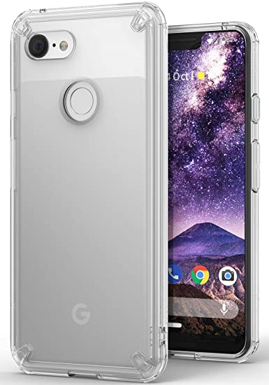 competitive price a39cd 03e48 Ringke Fusion Compatible with Pixel 3 XL Case, Clear Transparent PC Back  TPU Bumper [Drop Defense] Raised Bezels Scratch Protection Natural Form  Cover ...