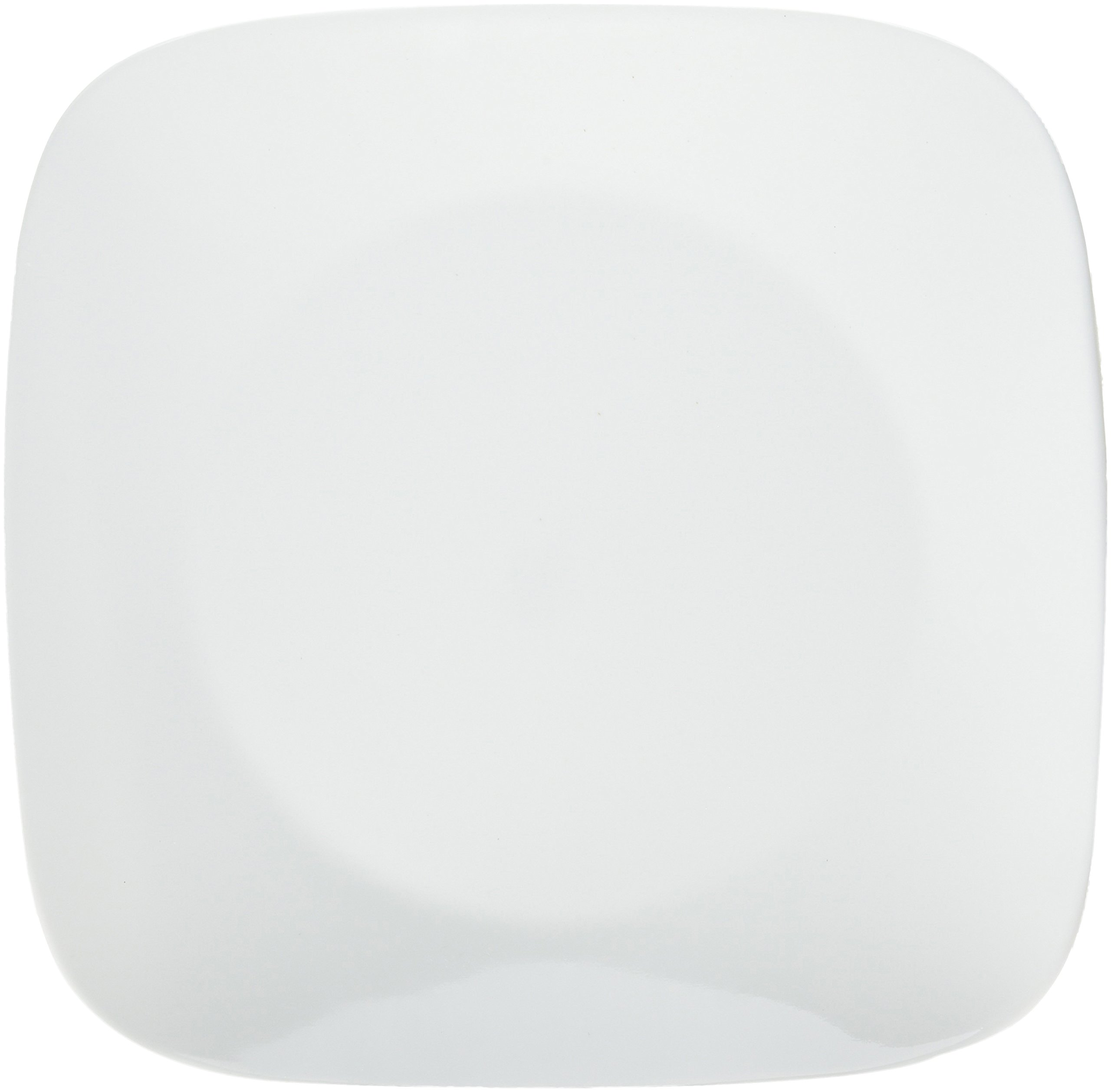 Corelle Corelle Square 10-1/4'' Dinner Plate (Set of 6), Pure White,