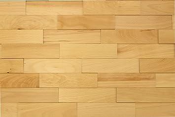 Wandverkleidung-Holz 3D Optik I Buche I 1m² nachhaltige EchtHolz ...