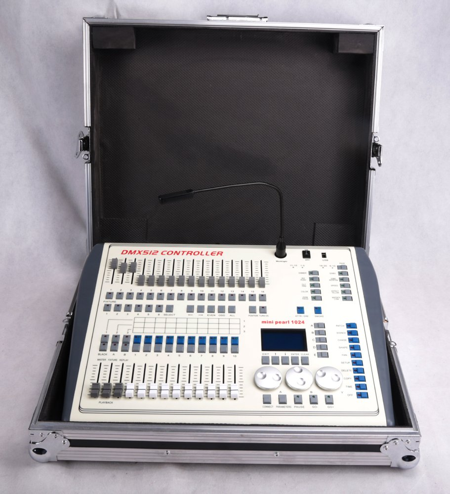 Dmx Console,Mini Pearl Console Dmx512 1024CH Can Use R 20 Library, With  Flying Case, Controller Panel Use For Editing Program Of Stage Lighting  Runing