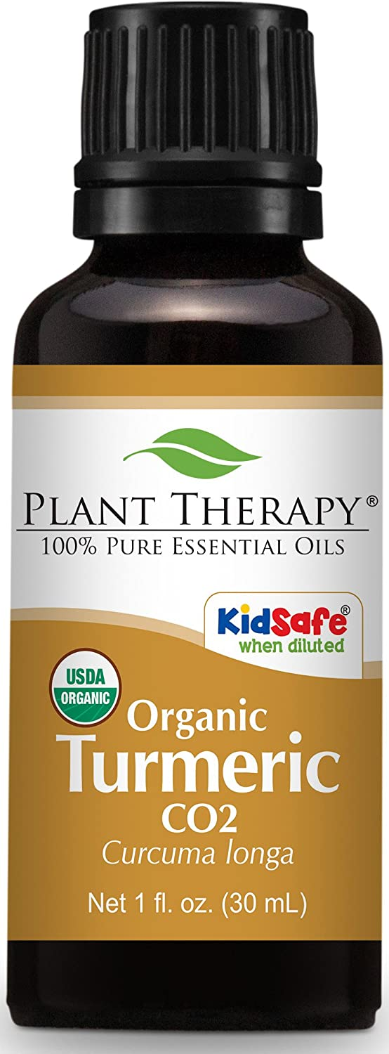 Plant Therapy USDA Certified Organic Turmeric CO2 Essential Oil. 100% Pure, Undiluted, Therapeutic Grade. 30 ml (1 oz).