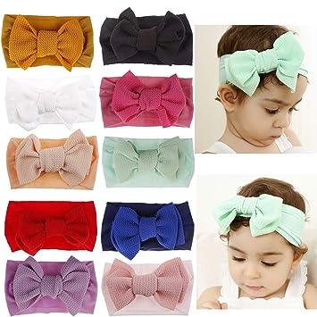 Newborn Headband Hat Baby Infant Turban Bow Knot Christmas Head Wrap For Girls