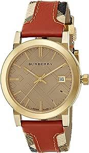 Burberry Women's Beige Dial Leather Band Watch - BU9016
