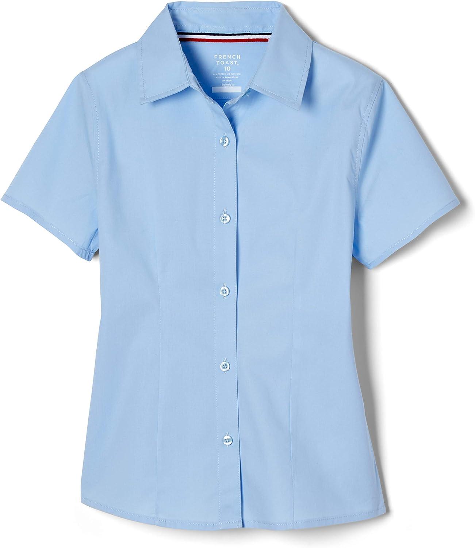 French Toast Girls Short Sleeve Stretch Shirt Blouse