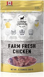Canine Cravers Single Ingredient Dog Treats – Human Grade Air Dried Hypoallergenic Pet Food – Grain, Gluten, and Soy Free – 100% All Natural