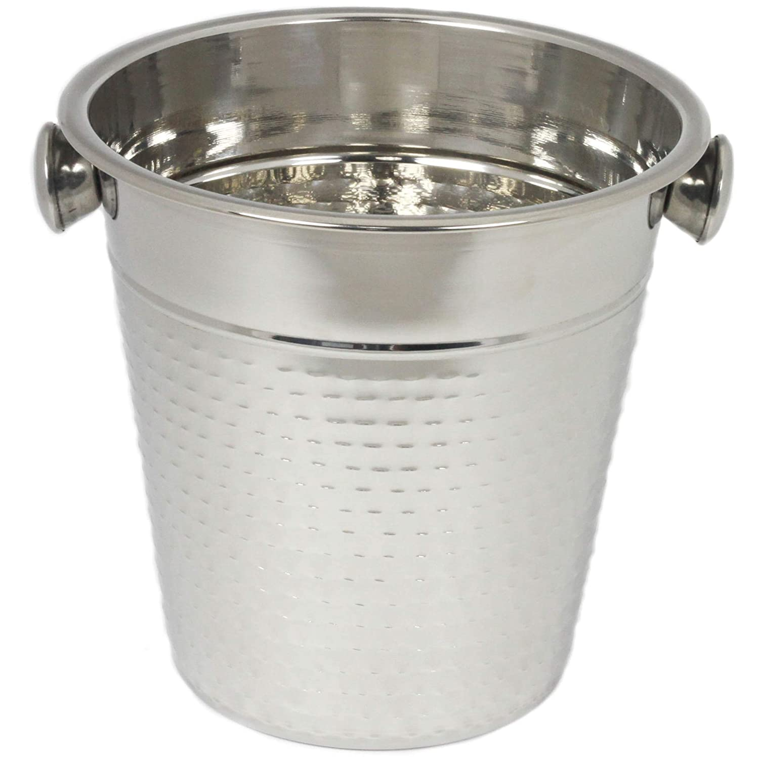 Chef Craft 21994 Hammered Champagne Bucket, 4 Quart, Stainless Steel