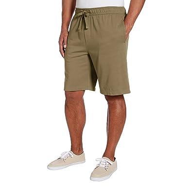 Tailor Vintage Men's Khaki Pull on Knit Jogger Shorts at Amazon ...