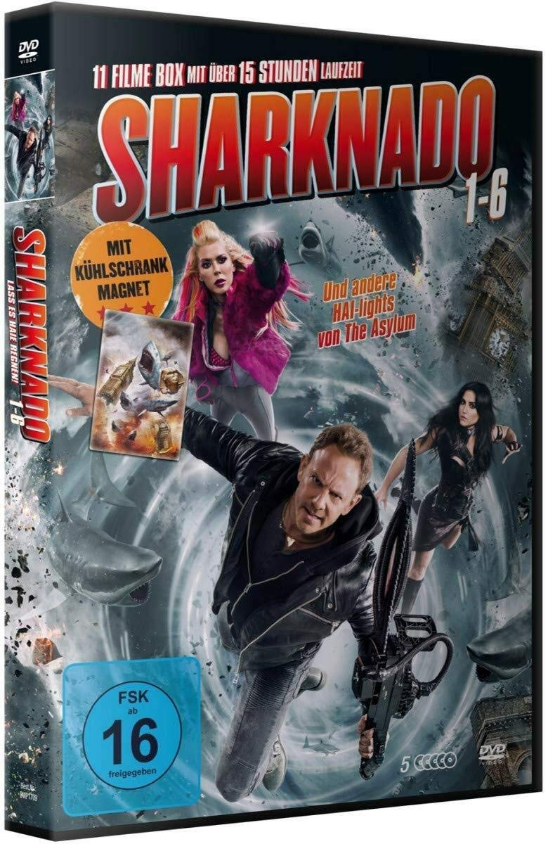 Sharknado 1-6 Deluxe Box-Edition 5 DVDs mit 11 Filmen plus Magnet ...