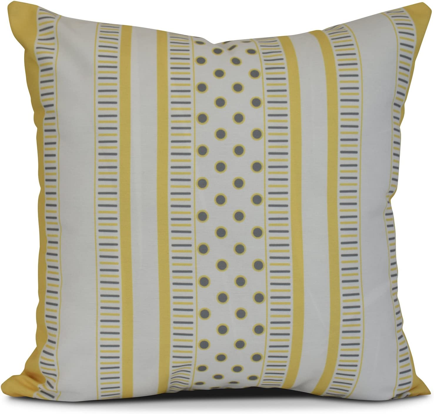 E by design Comb Dot Stripe Print Pillow 18 x 18 Navy Blue