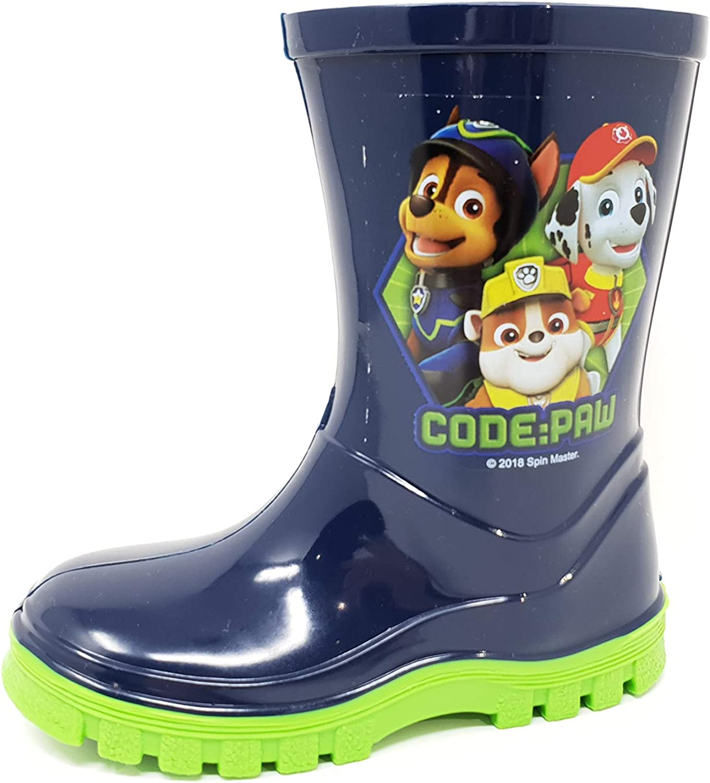 Nickelodeon Licensed Paw Patrol Childrens Kids Wellington Boots Rain Wellies Boys Girls Mid Calf Snow Boots