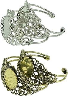 Sharplace 4 x Bracelets de Forme Ronde Bricolage Bracelet 25mm Bras Bijoux Accessoires