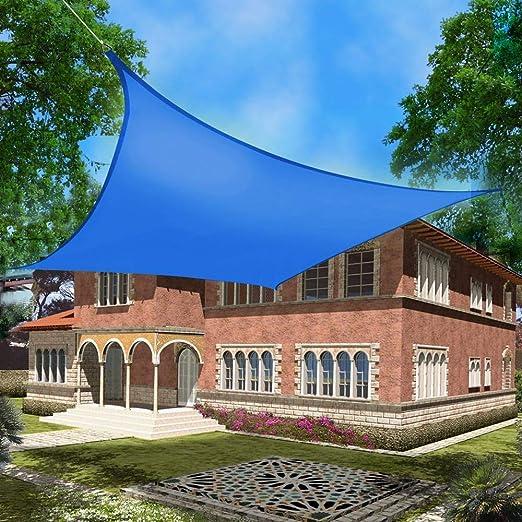 LING Vela De Sombra Toldos Impermeables Exterior Toldo Resistente E Lmpermeable Fabricada En Poliéster, 95% Protección Solar, Utilizada para Fiestas En El Jardín Piscina Patio: Amazon.es: Jardín