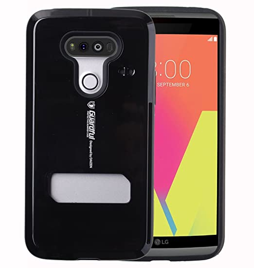 premium selection 31e5f 6d583 Guardful [Shockproof] Credit Card Case [Dual Layer] Protective Hybrid Case  [Coin Standing] with One Card Slot Wallet for LG V20 (Black)