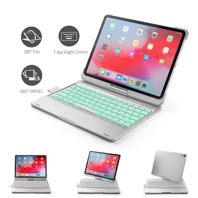 人気定番 AddPrime iPad Pro 11キーボードケース 11対応 7色バックライト 360°回転 自動ウェイク&スリープ バックプレート ソリッドABSシェル ABSボタン バックプレート チョコレート ABSボタン ワイヤレスキーボード iPad Pro 11対応 シルバー B07PZS7QJ8, 癒す堂:71907efb --- a0267596.xsph.ru