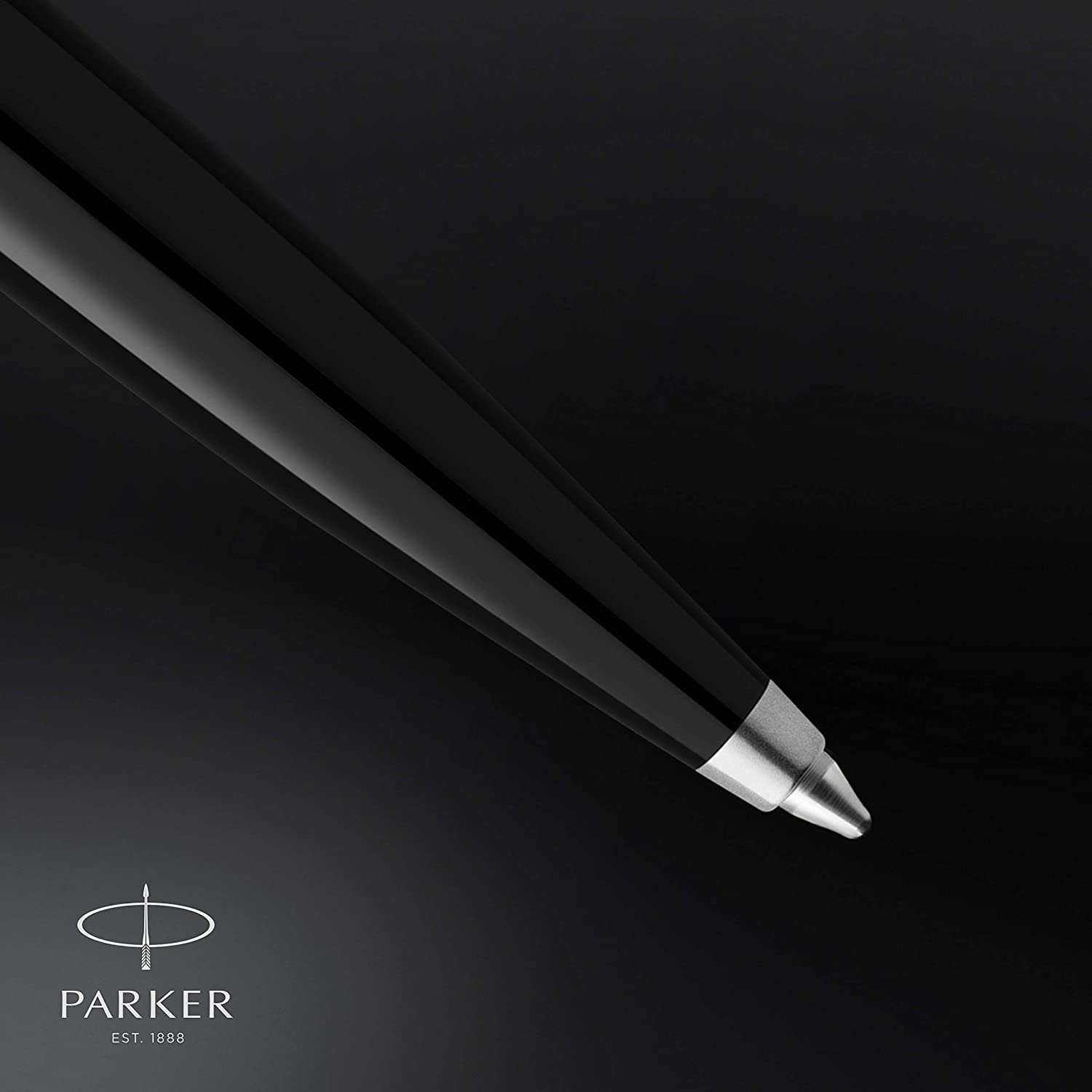 Medium Point with Black Ink Refill Gift Box Black Barrel with Chrome Trim Parker 51 Ballpoint Pen
