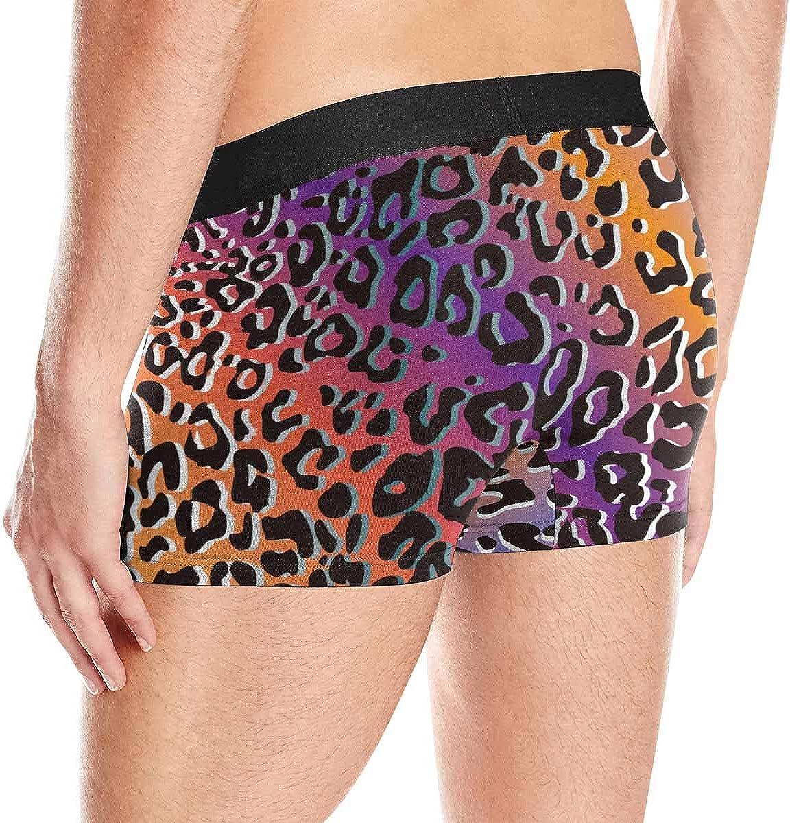 INTERESTPRINT Mens Novelty Boxer Briefs Underpants Animal Pattern Skin Fur XS