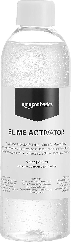 AmazonBasics Glue Slime Activator Solution, 8-oz- Great for Making Slime